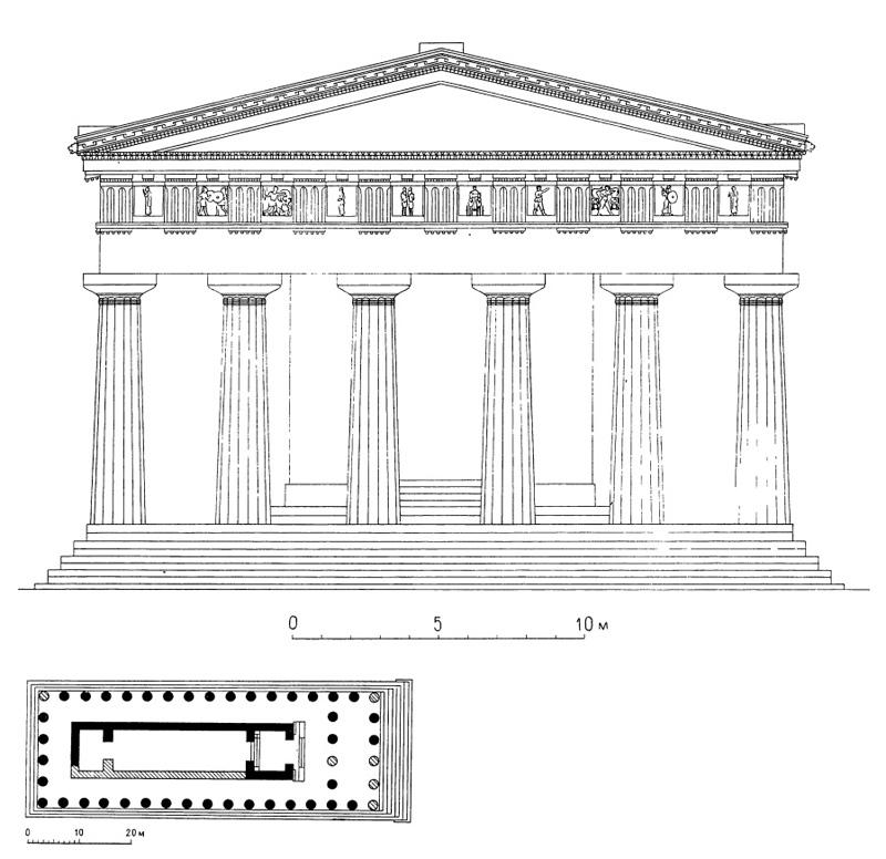 Селинунт. Храм С. Фасад