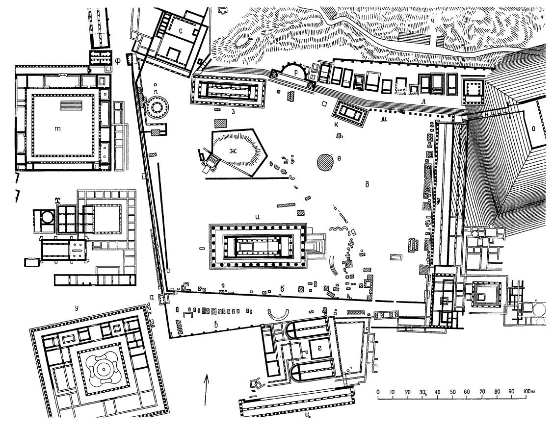 Древняя олимпия схема
