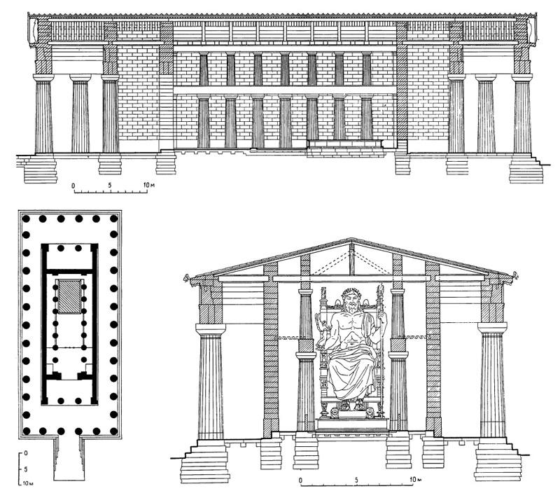 Олимпия. Храм Зевса, между