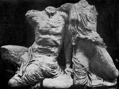 Афины парфенон скульптура западного