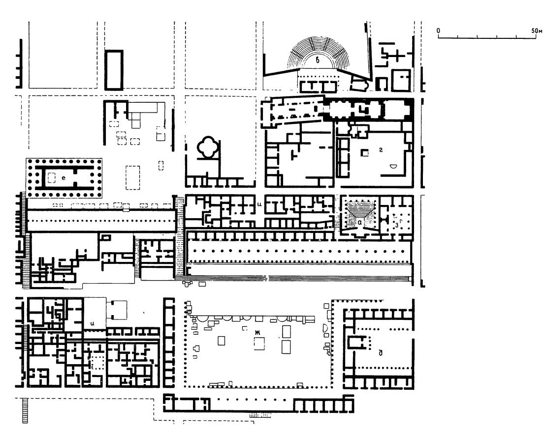 Сложный план древнегреческого театра