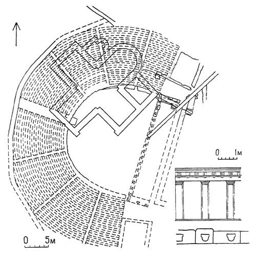 Античный театр. План и