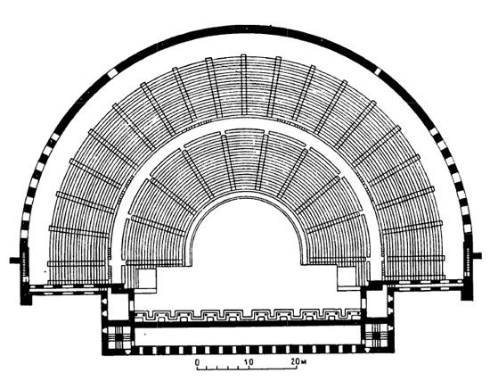 Аспенд. Театр, II в. н.э.