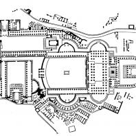 План форумов Траяна (слева), Августа и Цезаря (справа и вверху)