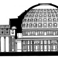Пантеон (разрез)