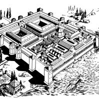 Дворец Диоклетиана в Сплите. Реконструкция