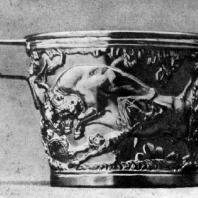 Кубок из купольного погребения в Вафио (близ Спарты). Золото. Середина 2 тысячелетия до н. э. Афины. Национальный музей