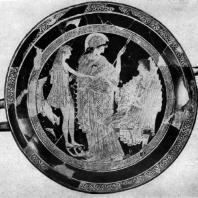 Евфроний. Тезей у Амфитриты. Роспись килика. Около 500—490 гг. до н. э. Париж. Лувр