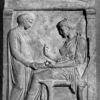 Надгробие Гегесо из Афин. Мрамор. Около 410 г. до н. э. Афины. Национальный музей