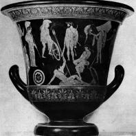 Кратер из Орвьето. Афина. Геракл и аргонавты. Около 450 г. до н. э. Париж. Лувр