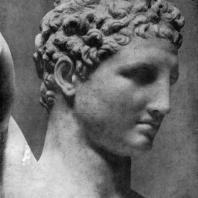 Пракситель. Гермес с Дионисом Голова Гермеса