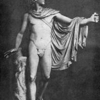 Леохар. Аполлон Бельведерский. Около 340 г. до н. э. Мраморная римская копия с утраченного бронзового оригинала. Рим. Ватикан