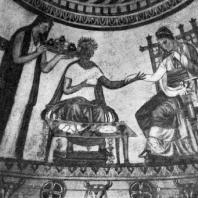 Роспись купольной гробницы в Казанлыке (Болгария). Фрагмент. Конец 4 — начало 3 в, до н. э.