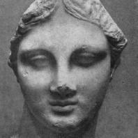 Голова девушки с острова Хиоса. Мрамор. Конец 4 в. до н. э. Бостон. Музей изящных искусств