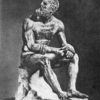 Аполлоний, сын Нестора. Статуя кулачного бойца. Бронза. 1 в. до н. э. Рим. Музей Терм