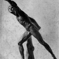 Агасий Эфесский. Статуя воина. (Боргезский боец). 1 в. до н. э. Мраморная римская копия с утраченного оригинала. Париж. Лувр
