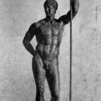 Статуя эллинистического правителя (так называемый Диадох). Бронза. 3—2 вв. до н. э. Рим. Музей Терм