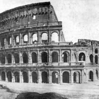 Колизей (амфитеатр Флавиев) в Риме. 75—82 гг. н. э. Общий вид