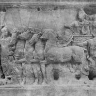 Триумф Тита. Рельеф с арки Тита в Риме. Мрамор. 81 г. н. э.