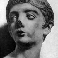 Портрет юноши времени Флавиев. Мрамор. Конец 1 в. н. э. Лондон. Британский музей