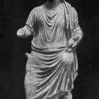 Статуя проповедующего Христа. Мрамор. 3—4 вв. Рим. Музей Терм
