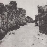Тиринф. Дорога, ведущая во дворец, за первыми воротами внешней стены. Фото: Анджей Дзевановский