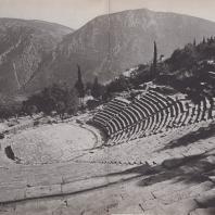 Дельфы. Театр. Вид с севера с вершины театрона