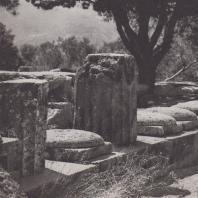Дельфы. Мармария, руины сокровищницы массалиотов (530-525 гг. до н.э.)