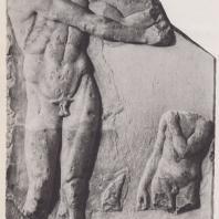 Дельфы. Барельеф. Апоксиомен (вторая половина V в. до н.э.). Музей в Дельфах