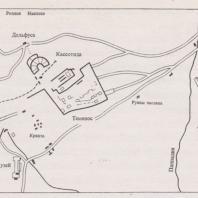 План археологического ансамбля Дельф
