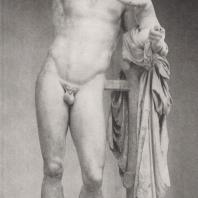 Мраморная группа: Гермес с маленьким Дионисом. Копия, выполненная во II в. до н.э. со статуи Праксителя IV в. до н.э. Музей в Олимпии. Фото: Анджей Дзевановский