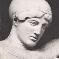Голова Дейдамии Храм Зевса. Западный фронтон. Музей в Олимпии. Фото: Анджей Дзевановский