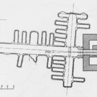 Пальмира. Долина Гробниц. Башня-гипогей №15. План. Рис. А. Остраш