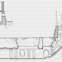 Пальмира. Долина Гробниц. Башня-гипогей №15. Разрез. Рис. А. Остраш