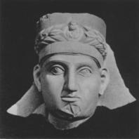 Пальмира. Голова жреца с надгробного памятника конца II века (Польские археологические раскопки 1962)