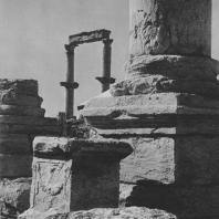 Пальмира. Базы колонн экседры при Большой колоннаде, III век