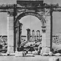 Пальмира. Площадь при театре, вид от стороны Большой колоннады, II век