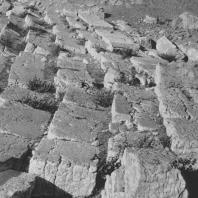 Пальмира. Разрушенная стена здания при агоре. II век