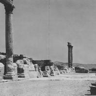 Пальмира. Восточная часть так называемого Храма знамён после окончания археологических раскопок, 1966 г.
