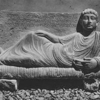 Пальмира. Надгробный рельеф Забды, середина II века. Польские археологические раскопки 1959 г.