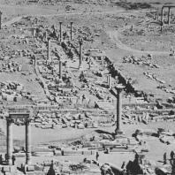 Пальмира. Вид польского участка археологических раскопок