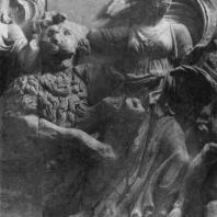 Алтарь Зевса в Пергаме. Южная сторона большого фриза. Адрастея (Немесида) — богиня возмездия