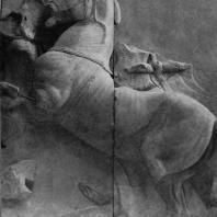 Алтарь Зевса в Пергаме. Южная сторона большого фриза. Кони Гелиоса