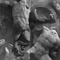 Алтарь Зевса в Пергаме. Северная сторона большого фриза. Полидевк, один из Диоскуров, и гигант Линкей