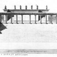 Алтарь Зевса в Пергаме. Западная сторона алтаря (реконструкция)